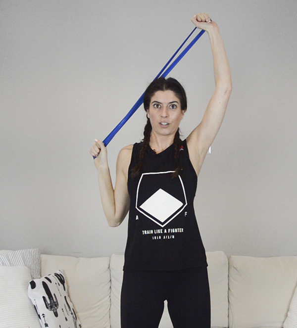 Upper Body Resistance Band Loop Workout (Mini Band