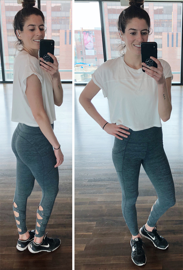 0d708b95004 A Week of Workout Outfits (May) - Athleta lace up leggings and white crop