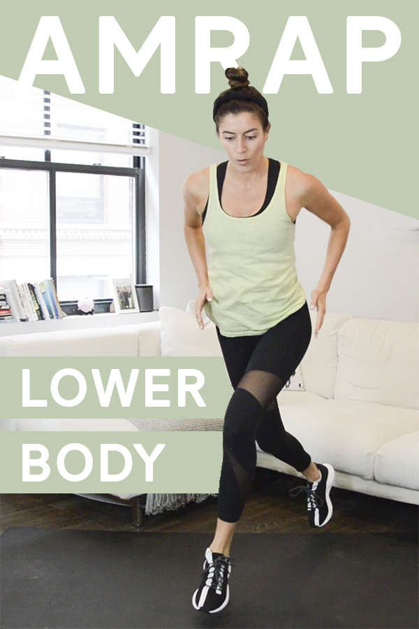 Lower Body AMRAP Workout (Bodyweight)