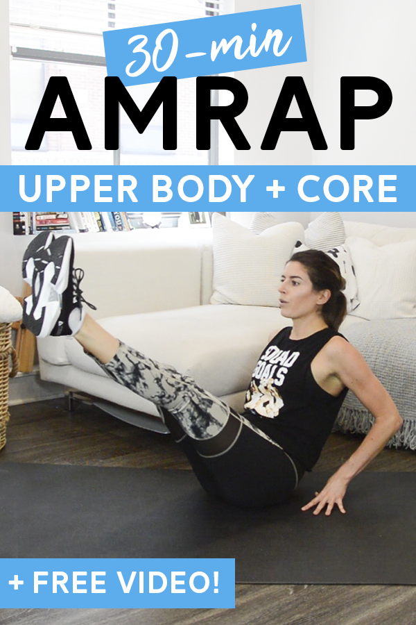 Core + Upper Body AMRAP Workout (Bodyweight)