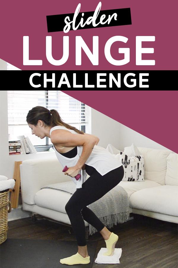 Slider Lunge Challenge (Quick Finisher)