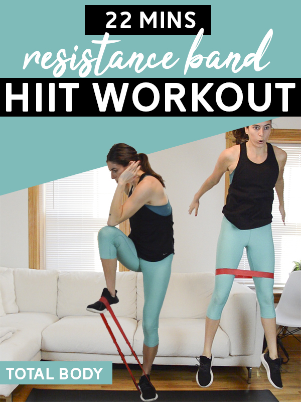 Resistance Band Hiit Workout Total Body 22 Mins Pumps Iron